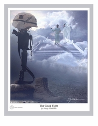 The Good Fight by Danny Halhbohm - 4 Unframed Options