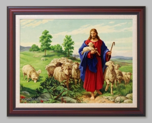 The Good Shepherd - Christian Art  - 6 Framed & Unframed Options