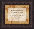 The Great Commission Framed Christian Wall Decor