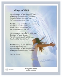 Wings Of Faith by Danny Hahlbohm - Unframed Christian Art