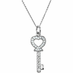 The Key of Love for a Daughter Necklace