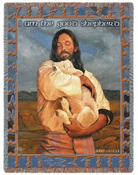 The Lamb Religious Tapestry Throw