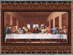 The Last Supper Christian Tapestry Throw