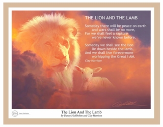 The Lion And And The Lamb by Danny Hahlbohm - Unframed Christian Art