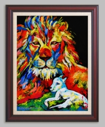 The Lion & The Lamb by Janet Hyun - 6 Framed & Unframed Options
