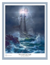 The Lord Is My Light by Danny Hahlbohm - Unframed Christian Art