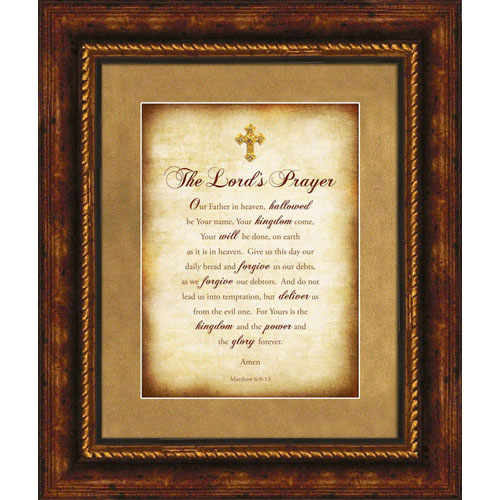 the lords prayer christian wall dcor lordsart