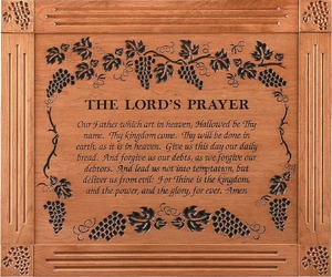 """The Lord's Prayer Grand Carved & Framed Christian Wall Decor - 33""""x39"""""""