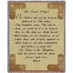 The Lord's Prayer Religious Tapestry Throw