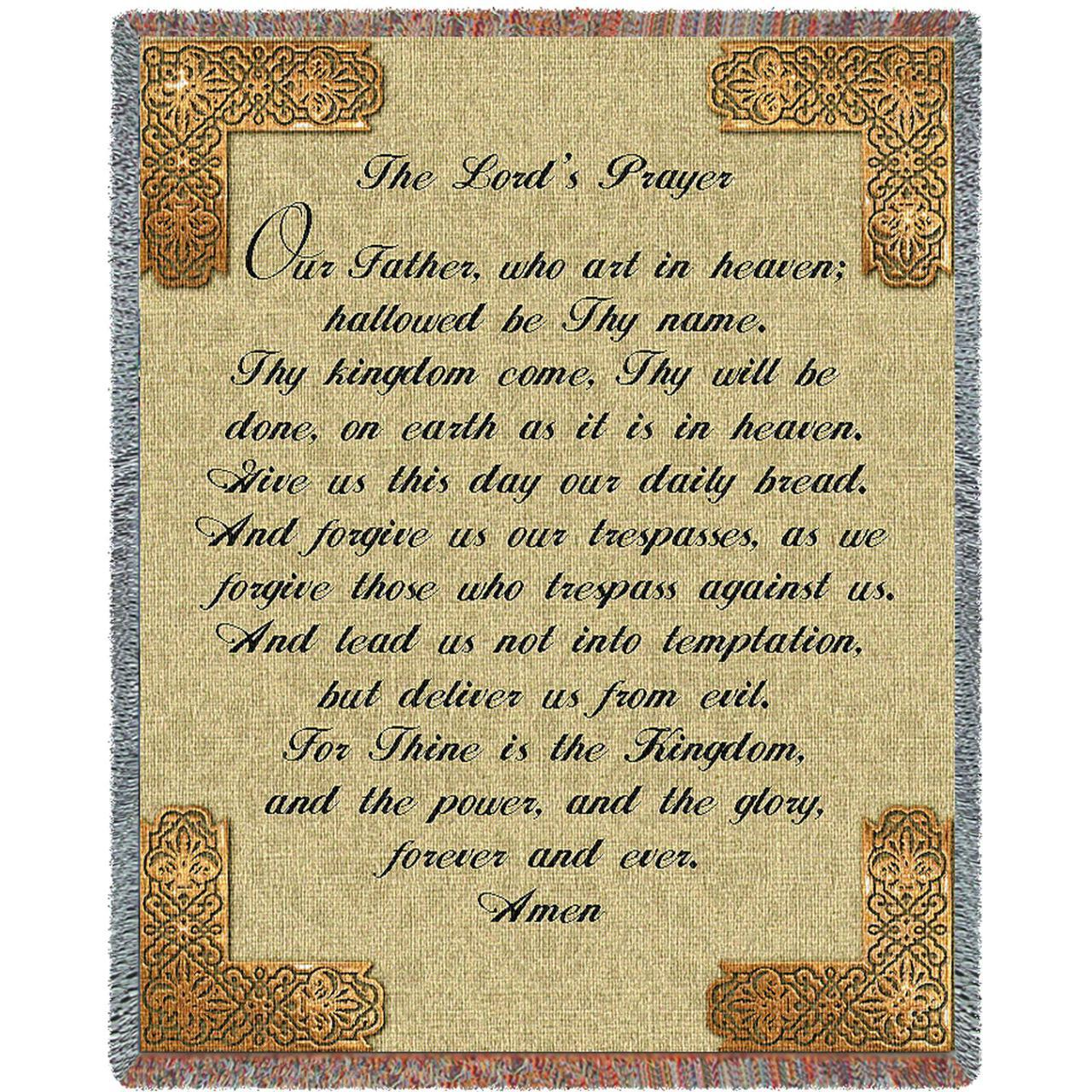 The Lord\'s Prayer Religious Tapestry Throw | LordsArt