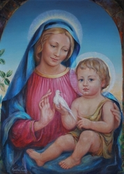 The Madonna and Child by Venetia and Daphne - 2 Unframed Options