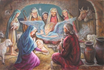 The Nativity by Venetia and Daphne - 2 Unframed Options