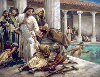 The Pool Of Bethesda by Nathan Greene - 2 Options Available