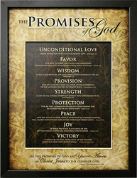 The Promises Of God - Christian Home Decor