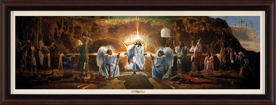 The resurrection mural by ron dicianni lordsart for Christian mural