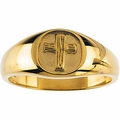 The Rugged Cross® Chastity Ring 14k Gold