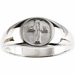 The Rugged Cross Sterling Silver Chastity Ring