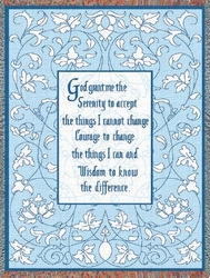 The Serenity Prayer Inspirational Tapestry Throw