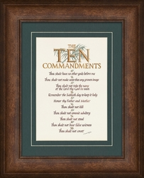 The Ten Commandments Framed Christian Gift
