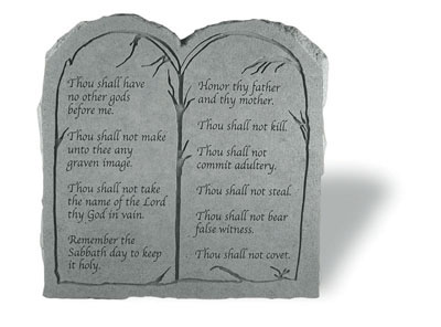 Beau The Ten Commandments Stone Tablet