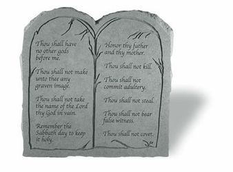 The Ten Commandments Stone Tablet