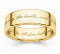 The Way, The Truth And The Life Bible Verse Wedding Ring - 14k Yellow Gold