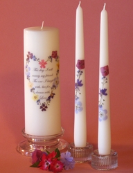 """This Day"" Non-Personalized 3x9 Unity Candle & Tapers - Heart"