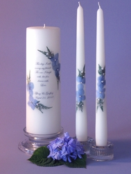 """This Day"" Personalized Unity Candle & 12"" Tapers"