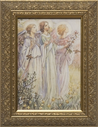 Three Angels by M. C. Barker - Framed Christian Art