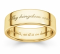 Thy Kingdom Come Bible Verse Wedding Ring - Yellow Gold