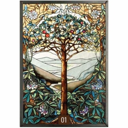 Tiffany Tree of Life Stained Glass Art