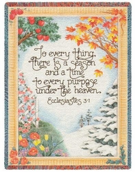 To Everything There is a Season Religious Tapestry Throw
