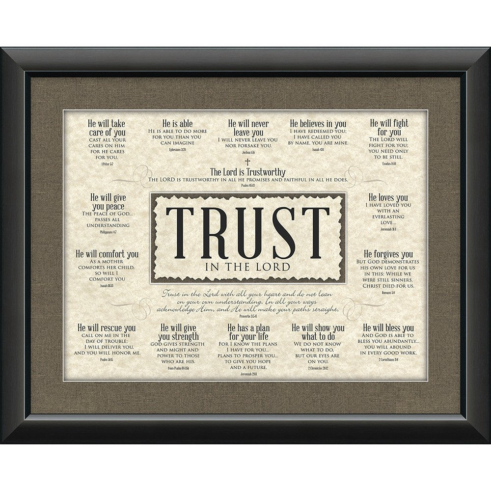 Christian home decor - Trust In The Lord Framed Christian Home Decor