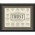 Trust In The Lord Framed Christian Home Decor