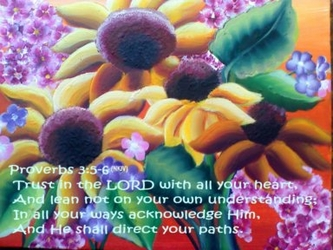 Trust in the Lord Proverbs 3:5-6 by Michelle Gorski - Unframed Christian Art