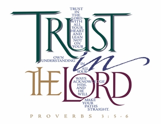 """""""Trust In The Lord"""" Proverbs 3:5-6 Christian Calligraphy"""
