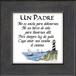 Un Padre Framed Spanish Inspirational Gift - 4 Frames Available