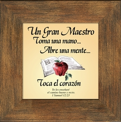 Una Gran Maestro Framed Spanish Appreciation Gift - 4 Frames Available