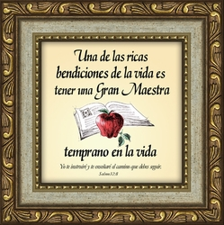 Una Maestra Framed Spanish Appreciation Gift - 4 Frames Available
