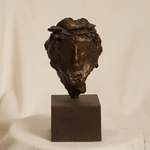 Untitled (Head Of Christ) Bronze Sculpture by J. Kirk Richards
