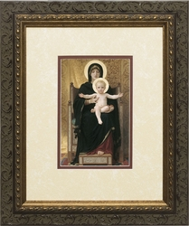 Virgin and Child - Matted w/Dark Ornate Frame - 3 Selections