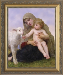 Virgin and the Lamb by William Adolphe Bouguereau - 5 Framed Options