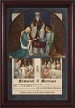 Wedding of Joseph and Mary Framed Christian Wall Decor