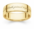 What God Hath Joined Together Bible Verse Wedding Band - Yellow Gold