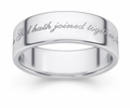 What God Hath Joined Together Bible Verse Wedding Band - Sterling Silver