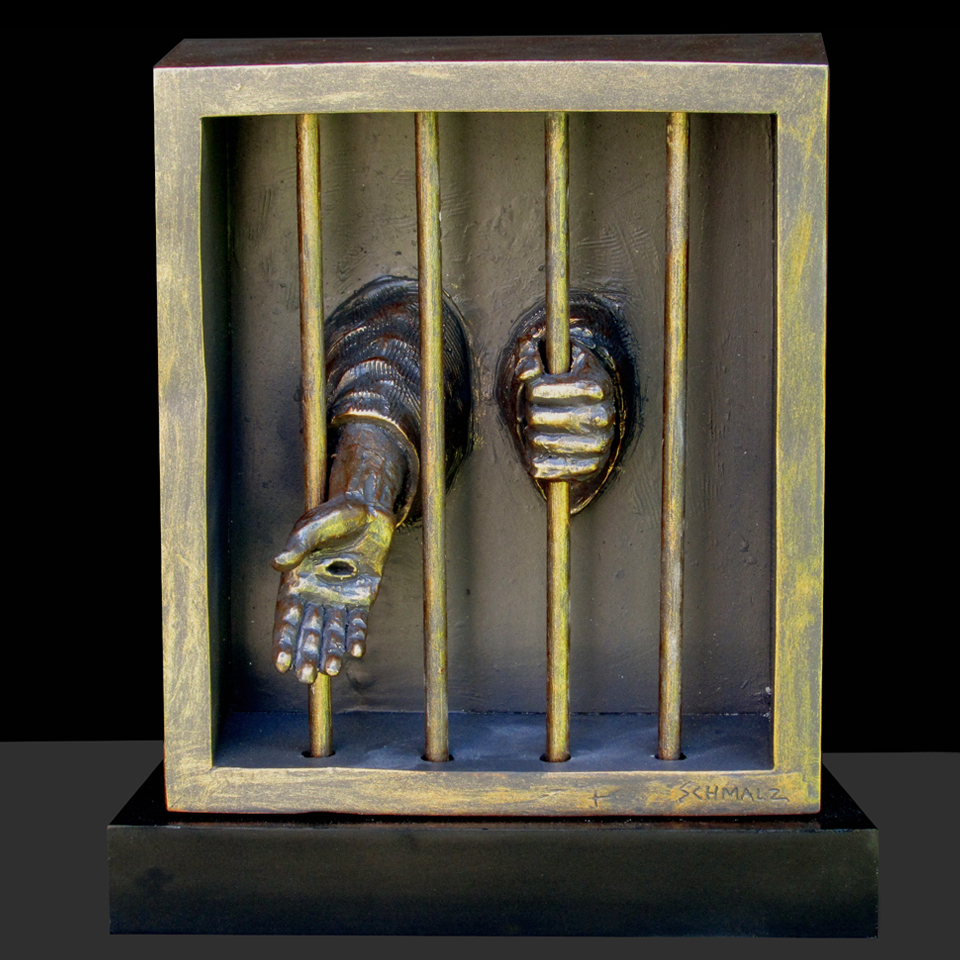 When I Was I Prison Christian Sculpture By Timothy P