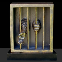 When I Was I Prison Christian Sculpture by Timothy P. Schmalz