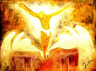 When the Angels Cried by Rod Hinson - Unframed Christian Art