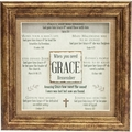 When You Need Grace Framed Christian Home Decor
