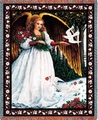 White Angel Throw Religious Tapestry